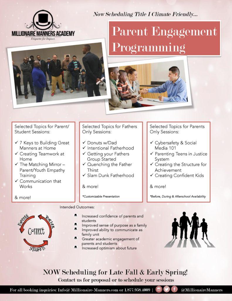 Parent Engagement Programming Flyer